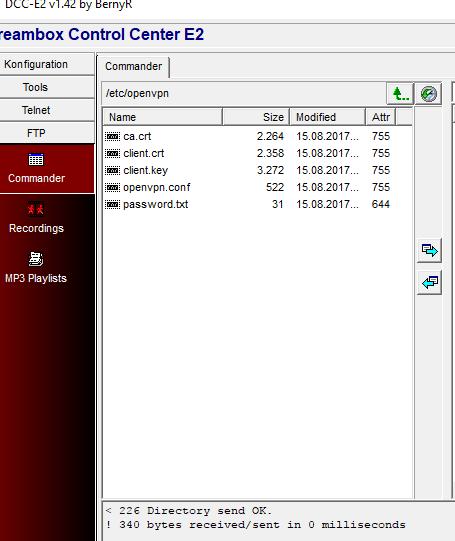CyberGhost mit Openvpn und Dreambox verwenden - Allgemeine